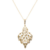 Loree Rodkin Women's Multi Color Diamond Vine Pendant Necklace - Gold