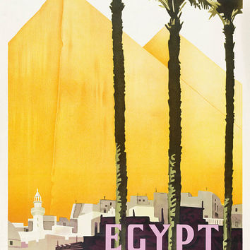Vintage Travel Poster Egypt Land of the Pharaohs 8x13 PopMount Ready to Hang FREE SHIPPING
