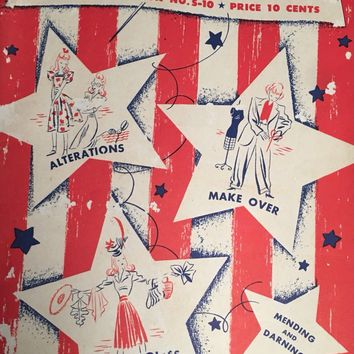 Vintage ~ 1942 ~ WWII Era ~ Make and Mend for Victory ~ Sewing book