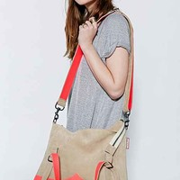 Hunter X UO Suede + Neon Messenger Bag- Neutral One