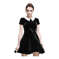 Wednesday Velvet Dress - Women's Gothic Dresses