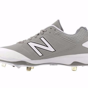 MDIGONV new balance 4040v3 metal cleats low cut gray white