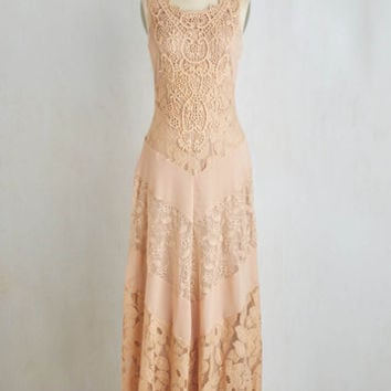 Vintage Inspired Long Sleeveless Maxi Paragon of Poise Dress