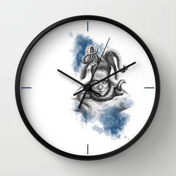 Nothing kills me like my mind Wall Clock by EDrawings38