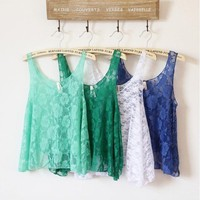 coolstyle — Girl's lace sexy vest