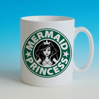 ariel starbuck disney mermaid princess ceramic mug custom