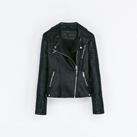 MOTORCYCLE JACKET WITH ZIPS - Jackets - Blazers - Woman | ZARA United States