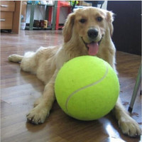 1PC 24CM Big Inflatable Tennis Ball Giant Pet Toy Tennis Ball Dog Chew Toy Signature Mega Jumbo Kids Toy Ball Outdoor Supplies