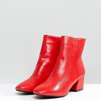RAID Sierra Red Ankle Boots at asos.com