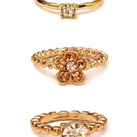 Fancy Rhinestone Ring Set