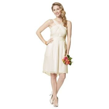 TEVOLIO™  Women's Halter Neck Chiffon Dress  - Neutral Colors