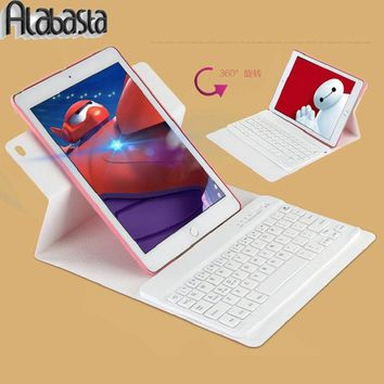 Alabasta Case For Ipad 5 6 360 Degree Swivel Detachable Wireless Bluetooth Keyboard Stand Case Cover For ipad Air 1 Air 2 shell