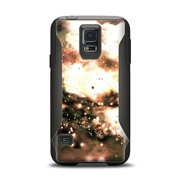 The Bright Gold Cloudy Lights Samsung Galaxy S5 Otterbox Commuter Case Skin Set