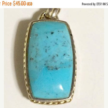 Vintage Barse Sterling Silver with Blue Turquoise Stone Pendant