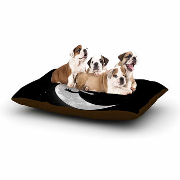 "Digital Carbine ""Moon Hug"" Black White Dog Bed"