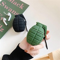 Military Grenades - Protective Case Cover Compatible with the Apple Airpods Gen 1 or 2 with Wireless Charging Headphones