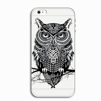 Cool Black Owl Personal Tailor iPhone 7 7 Plus & iPhone 5s se 6 6s Plus Case Cover + Gift Box-466