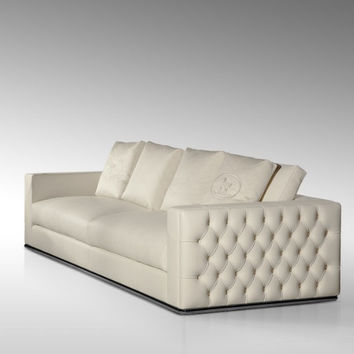 top graded italian genuine leather sofa sectional living room sofa home furniture big size 4 seater feather sofa crystal buttons