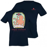 Simply Southern Octopus Tee - Navy