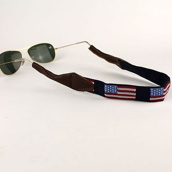Old Glory Needlepoint Sunglass Strap by 39th Parallel