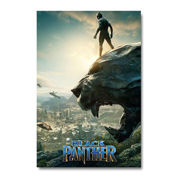 Black Panther 2 Superhero Movie Silk Poster Wall Art Print 12x18 24x36 inch Decoration Pictures Wallpaper Living Room Decor 002