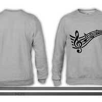Notes music 4 crewneck sweatshirt