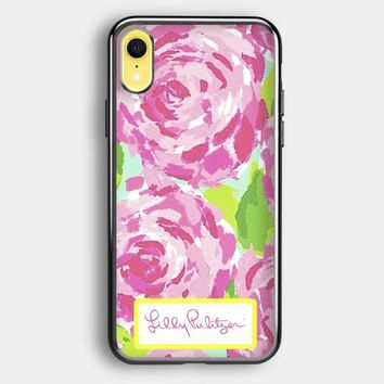 Lilly Pulitzer First Impression Rose Inspired iPhone XR Case   Casefruits