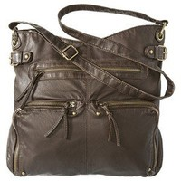Mossimo Supply Co. Washed Crossbody Handbag - Brown