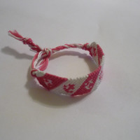 Bracelet - Pink and White - Ready to ship