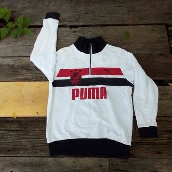 puma big logo sweatshirt sport wear vintage design hip hop  number 1