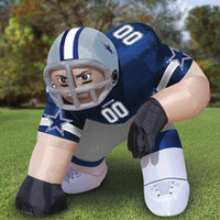 The Giant Inflatable Crouching NFL Player - Hammacher Schlemmer