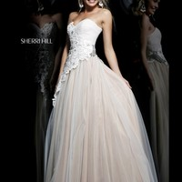 Strapless Sweetheart Sherri Hill Formal Prom Dress 11128