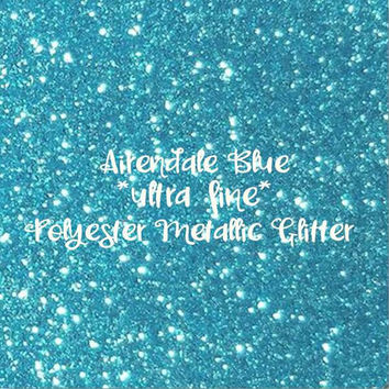 Airendale Blue polyester METALLIC Glitter | ultra fine glitter | 1oz - 2oz - 4oz - 8oz | glitter dipped | nail art | nail polish