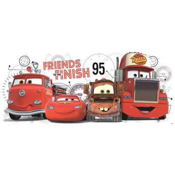 York Wallpaper RMK2556GM Walt Disney Kids Ii Cars 2 Friends to Finish Giant Wall Decal