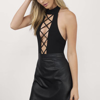 Top It Off Caged Bodysuit
