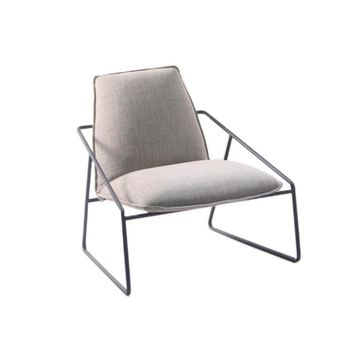 Fashion Iron Art Concise Armchair