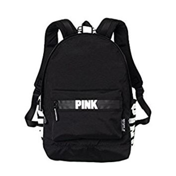 Victorias Secret Pink Campus Backpack Black/White Logo