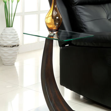 Chair Side Table W/ 8Mm Tempered Glass Top, Da  Cm-Ac151  Valon Collection