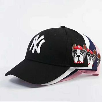 9c63c20eea63b MLB New York Yankees Women and Men Embroidery Sports Sun Hat Bas