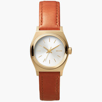 Nixon Small Time Teller Leather Watch Brown Combo One Size For Women 25989444901