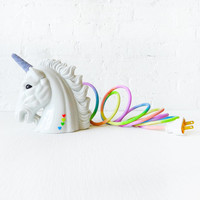 Odyssia the Unicorn Night Light  Vintage Lamp  by EarthSeaWarrior