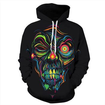 Skull Men Women Skateboarding Hoodies Autumn Winter Hallowmas Day Sweatshirts Streetwear Plus Size Christmas Clothes Funny 2018