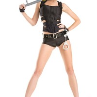 Six Piece Two Styles Sexy Swat Costume