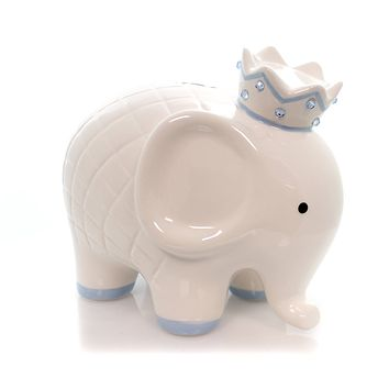 Bank White/Blue Coco Elephant Bank Bank