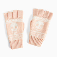 Knit Skull Fingerless Gloves