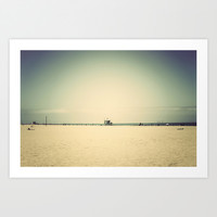 Santa Monica California Beach Art Print by SoCalPhotography