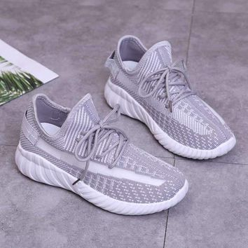 Gucci Hot Sale Women Fahsion Light Gray Knit Casual Sports Running Shoes Sneakers