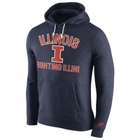 Illinois Fighting Illini Nike Club Rewind Hoodie – Navy Blue