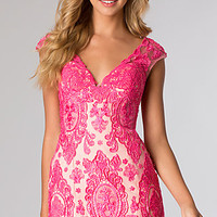 Short Cap Sleeve Lace Dress from JVN by Jovani