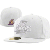 Los Angeles Lakers New Era 59FIFTY NBA White Hot Fitted Hat